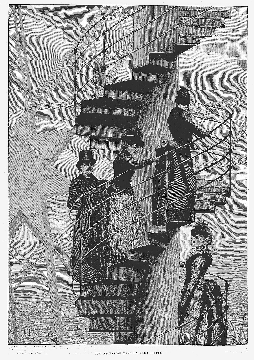 Top Of Eiffel Tower Stairs : Korbella eiffel tower jewelry